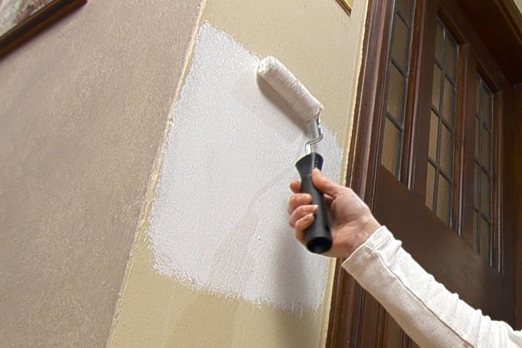 Use a Paint Roller to cover the damaged area.